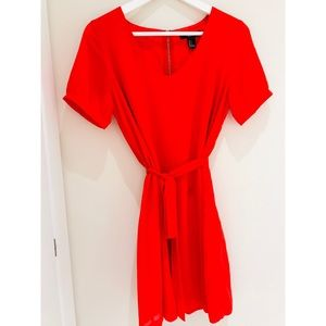 Lined Red Dress Size S NEW